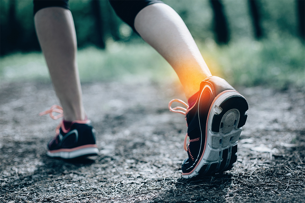 Ankle sprains have varying locations, severity